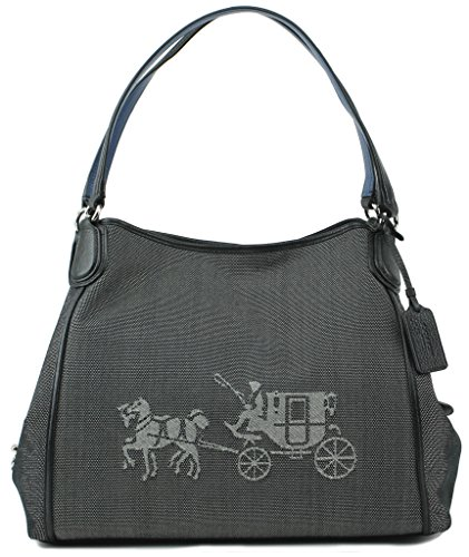 Coach Embossed Horse and Carriage Edie Shoulder Bag in Canvas, Style 35344