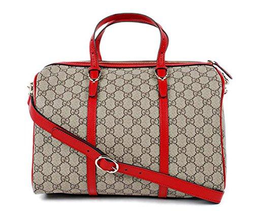 Gucci (Gucci) Gg Supreme Handbag 2-way Boston Bag Beige Red 322231