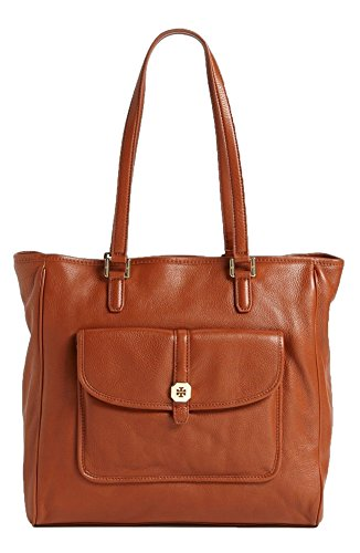 Tory Burch Clay Tote Large Leather Shopper, Sienna