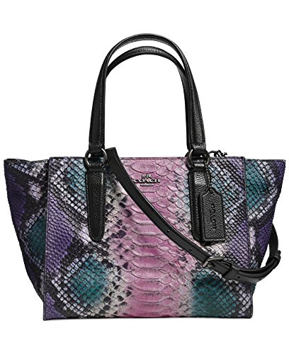 Coach Limited Edition Ikat Python Embossed Mini Crosby Carryall (33723 Multicolor)
