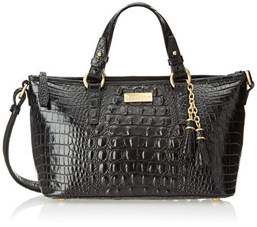 Brahmin Mini Asher Convertible Top Handle Bag, Black, One Size
