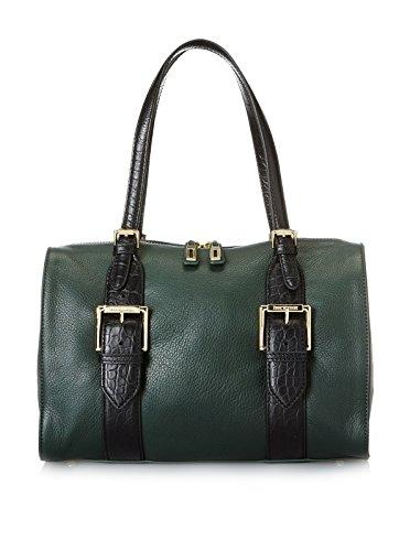 Isaac Mizrahi Lucille Satchel Handbag Evergreen