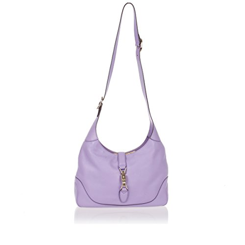 Gucci New Jackie O Women's Shoulder Bag Wisteria Purple Lilac Leather 277520/AMKOG