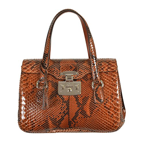 Gucci Women's Multi-Color Python Skin Satchel Handbag Shoulder Bag
