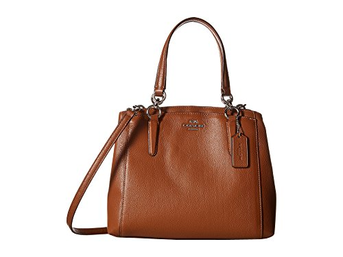 COACH Women's Pebbled Minetta Crossbody SV/Saddle Cross Body