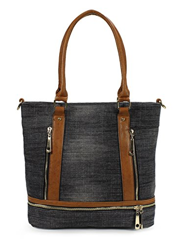 Scarleton Denim Tote Bag H1741