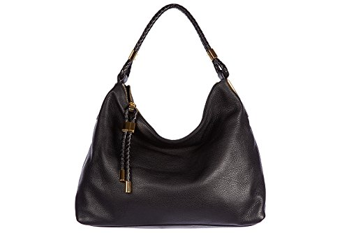 Michael Kors women's leather shoulder bag original skorpios black