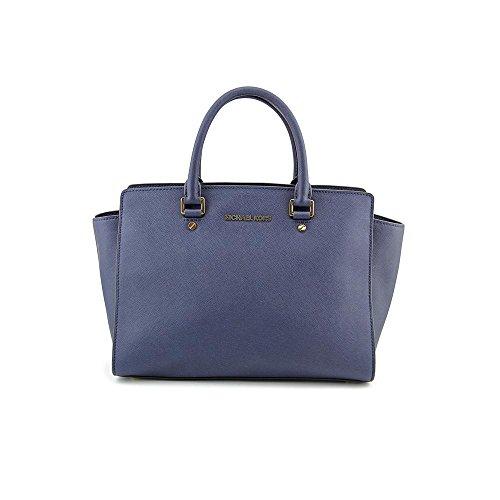 Michael Kors Selma Women's Large TZ Satchel Handbag Purse Blue