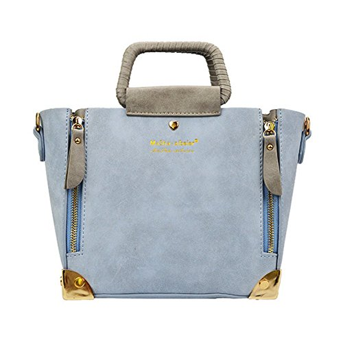 BagVenus Winter New Arrival Dull Polish Metal Zipper Designer Shoulder Bag Tote Handbag