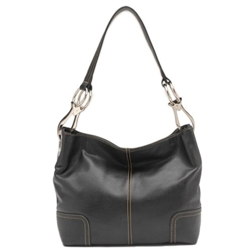 Tosca Classic Medium Shoulder Handbag Style 640 (Black)