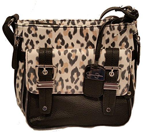 Jessica Simpson Jett Snow Leopard Handbag Black