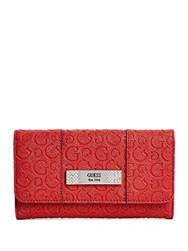GUESS Women's Abelia Logo-Embossed Slim Wallet