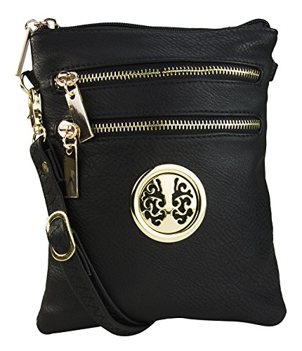 Crossbody Bag – Crossbody Purse – Multiple Pocket Crossbody Bag – Crossbody Purse with Adjustable Shoulder Strap – Crossbody Bag for Woman – Zip-top Closure Crossbody Purse – Trios Crossbody Bag By MKF Collection