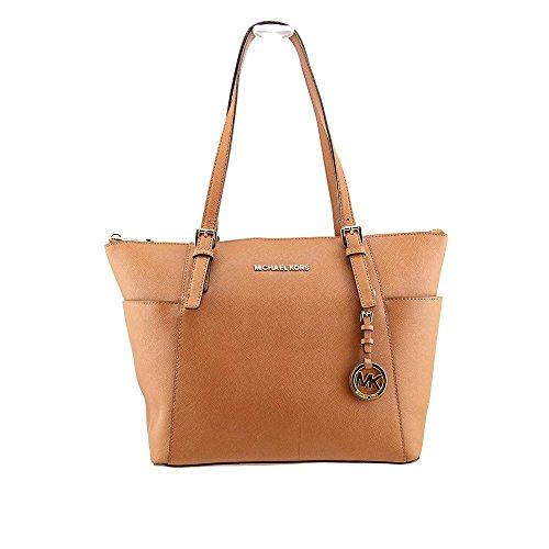 Michael Kors Jet Set East West Women's Tote Bag Handbag Purse Brown