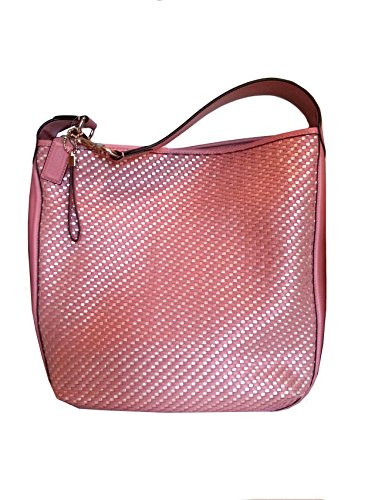 Coach Park Avery North South Leather Woven Hobo Shoulder Bag 29894