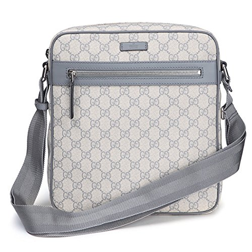 Gucci 'GG' Supreme Shoulder Messenger Bag 201448, Grey