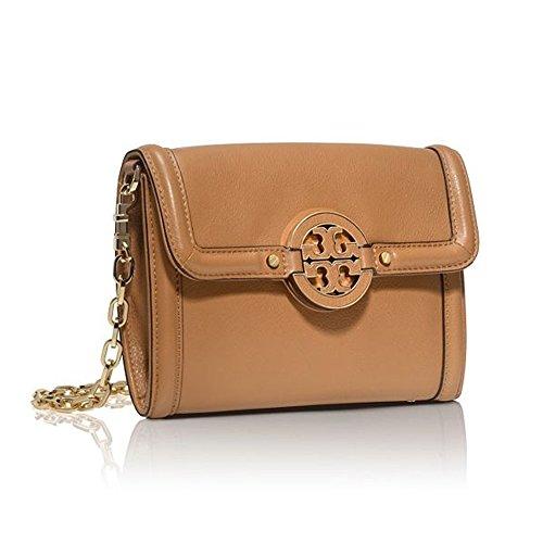 Tory Burch Amanda Crossbody Fold-over Bag Chain Wallet Leather TB Logo