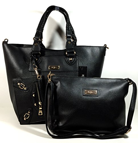 Bcbg Paris 3 Piece Bag Womens New Collection Black