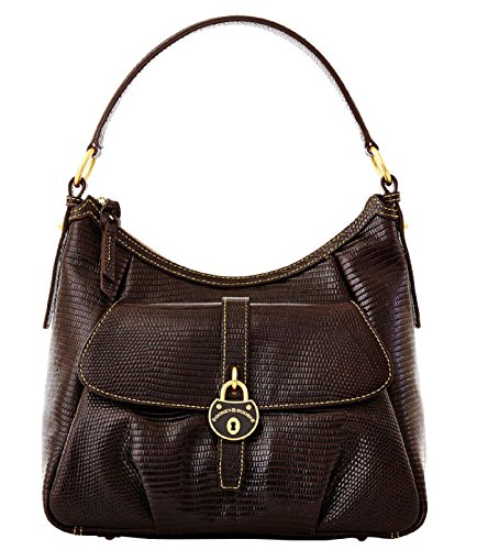 Dooney & Bourke Santorini Lizard Embossed Hobo Bag Handbag