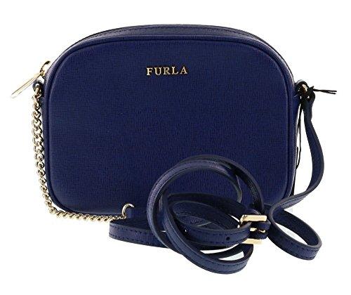 Furla Cross Body/Shoulder MIKY Saffiano Leather Handbag Purse in Navy 026