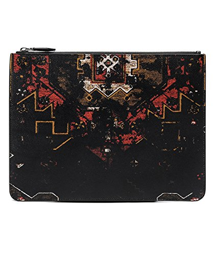 Givenchy Women's Geometric Pattern Real Leather Clutch Bag