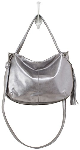 Hobo Handbags Supersoft Leather Vale Convertible Crossbody – Sterling