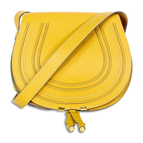 Chloe Marcie Medium Leather Satchel Handbag – Curry Yellow