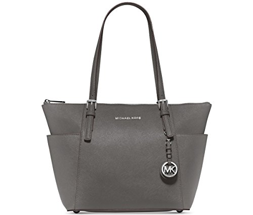 MICHAEL Michael Kors Jet Set East West Top Zip Tote (Steel Grey)