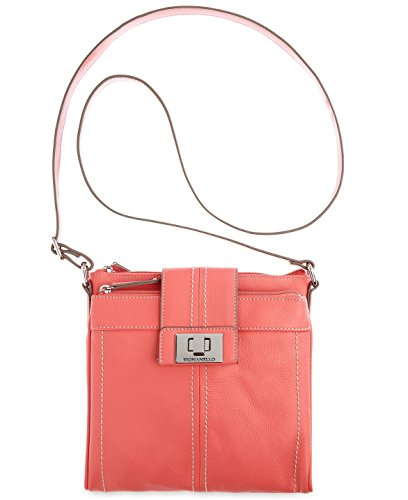Tignanello Handbag, Fab Function Coral Leather Crossbody