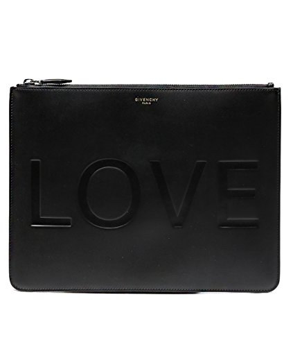 Givenchy Women's Engraved Love Real Leather Clutch Bag