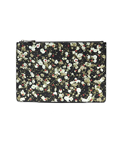 Givenchy Women's Floral With Cross Print Zip-Top Clutch