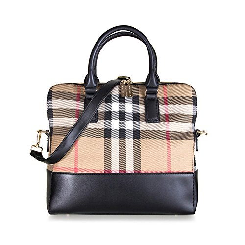 Bagoddess Lady Satchel Leather Multiple Classic Elegent Lattice Tote Handbag