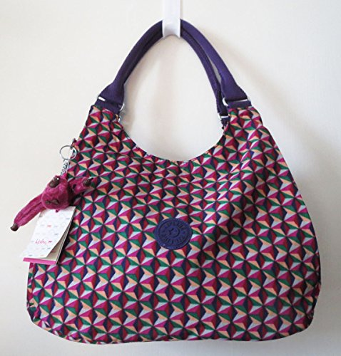 Kipling Bagsational Hobo Bag Triangle Print Multi Color