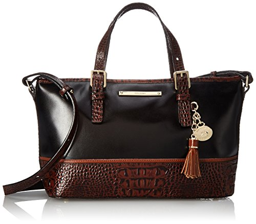 Brahmin Mini Asher Convertible Top Handle Bag, Black, One Size