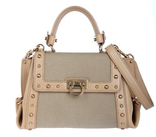 Salvatore Ferragamo Women Satchel bag Mini Sofia beige FER21-D982-0569