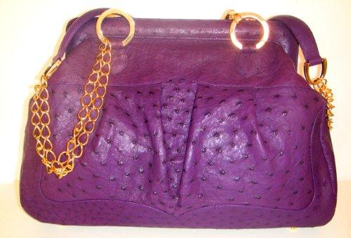 Rebecca Pr- Genuine Ostrich Skin Handbag- Black Friday Offer: 70% Off!!!