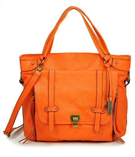 Jessica Simpson Payton Tote Shoulder Bag, Papaya