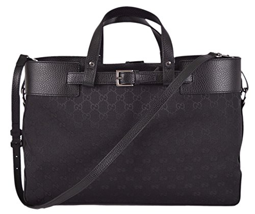 Gucci Women's Black GG Guccissimia Belted Convertible Handbag