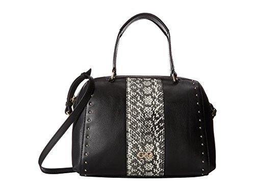 Cole Haan Antoinette Satchel Top Handle Bag, Black/Snake, One Size