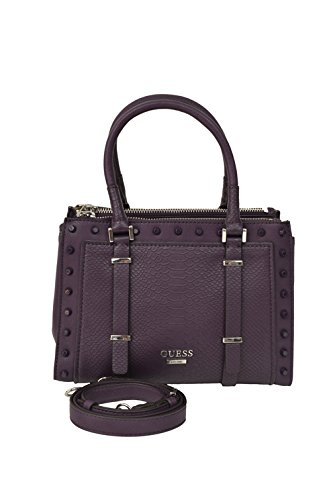 GUESS Basel Small Satchel – Snake (Aubergine)