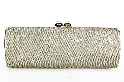 Jimmy Choo Champagne Glitter Clutch Bag (Mod: CHARM)