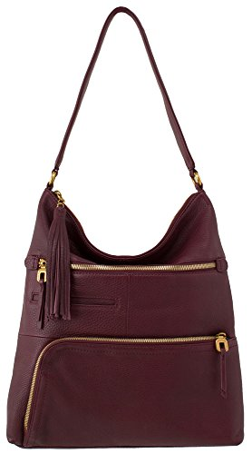 Hobo Handbags Supersoft Leather Flint – Wine