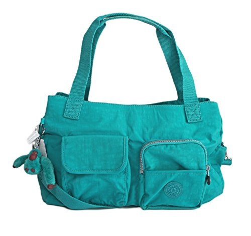 Kipling Lily Large Tote Crossbody Shoulder Bag in Paradise Green