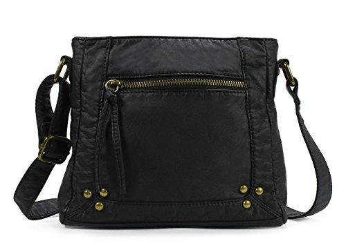 Scarleton Soft Washed Square Style Crossbody Bag H1789