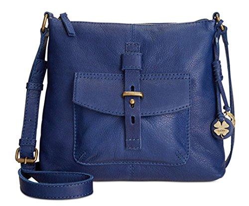 Lucky Brand Medine Leather Top Zip Crossbody Midnight
