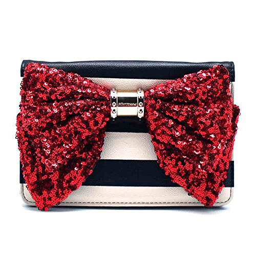 Betsey Johnson Oh Bow Wallet On Strings in Stripe