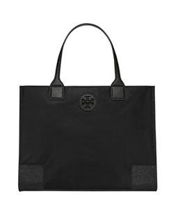 Tory Burch Ella Packable Tote Black Water Repellent Nylon Bag