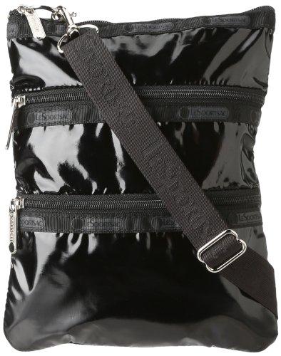 LeSportsac Kasey Cross-Body,Black Patent,one size