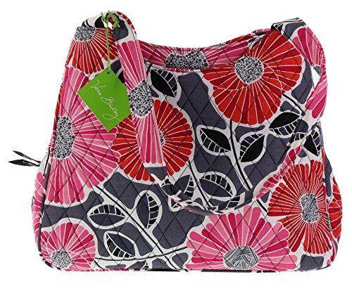 Vera Bradley Triple Compartment Handbag Purse Shoulder Bag Tote in Cheery Blossoms