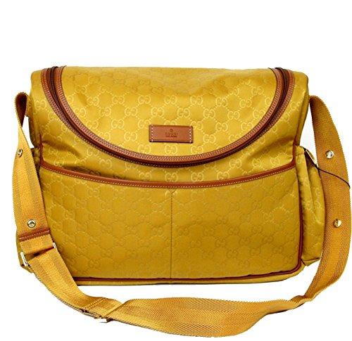 Gucci Guccissima Yellow Nylon Diaper Bag Baby Bag 123326